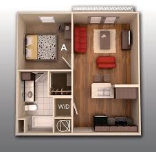 Great One Bedroom Apartment Design Fair Design Inspiration