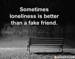 Fake Friends Quotes Delectable Sometimes Loneliness Is Better Than A Fake Friend QuotePix
