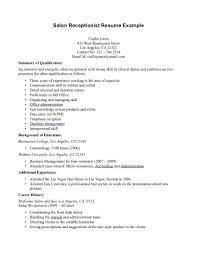 Front Desk Receptionist Resume Medical Sample Objective Cover Letter