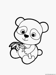 Schattige Panda Kleurplaat Voorbeeld Kleuren Vormen Voor Peuters
