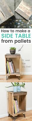 DIY Pallet side table - easy instructions on how to create a rustic wooden  pallet side