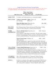 Nursing College Student Resume Examples Listmachinepro Com