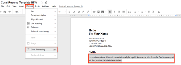 Resume On Google Docs Gorgeous Google Docs Resume Template Library Howto Guide Resume Genius