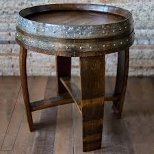 wine barrell furniture. exellent barrell wine barrel end side table preparing zoom on barrell furniture
