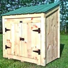 outdoor garbage container storage wooden can holder trash bin st