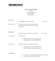 Printable Blank Resume Awesome Blank Job Resume Free Printable Resume Templates Blank Job Fill