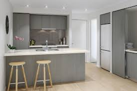 Gray Stained Wood Kitchen Cabinets Trekkerboy