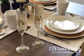 diy custom wedding wine glasses