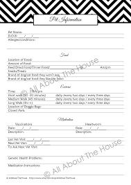 Pet Information Sheet Allaboutthehouse Printables