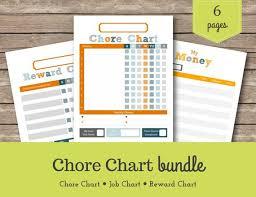 Chore Chart Max Kids Chore Chart Printable Chore Chart Reward Charts Kids Chores Allowance Tracker