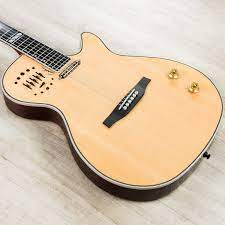 Godin Guitars 047895 Multiac Steel Electric Acoustic Guitar, Natural High  Gloss