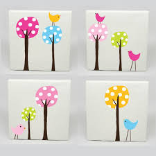 canvas wall art childrens rooms kids canvas art set of 4 polka dot tree birds on canvas wall art childrens rooms with awesome canvas wall art childrens rooms wall decorations