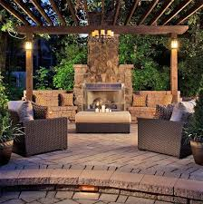 Exellent Patio Ideas With Fireplace Outdoor Designs A In Beautiful