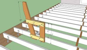 decking bench ideas contemporary deck plans free howtospecialist how to build step by throughout 9
