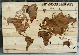 on cara membuat vintage wooden wall art with diy wooden world map art the happier homemaker