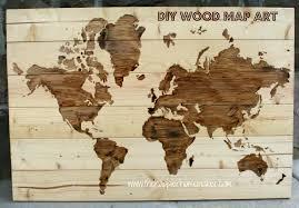 on diy map panel wall art with diy wooden world map art the happier homemaker