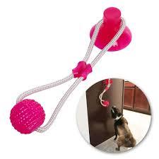 Multifunction Pet <b>Molar</b> Bite Dog Toys Rubber Chew Ball Cleaning ...