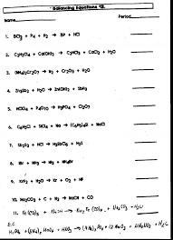 entrancing balancing chemical equations worksheet 1 10 tessshlo workshee word equations worksheet worksheet um