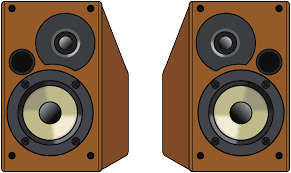 computer speakers clipart. pair of wooden speakers computer clipart