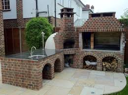 image of outdoor fireplace with oven designs