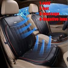 4 in 1 car heatedwind cooledmassageion functions cushion black
