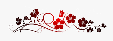 red flowers decoration png clipart