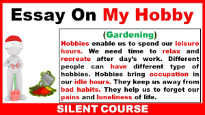 essay on line essay on my hobby in english essay on my hobby gardening youtube