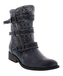 love this product navy leather annex boot women