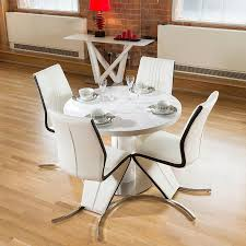 dining set white gloss round extending table chair plus four chairs square glass pool ideas for small spaces driftwood decorations seater with