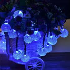 Outdoor Holiday Globe Lights Details About Globe Led String Lights 20 30 50leds Globe Ball Fairy Lights Outdoor Holiday Ss