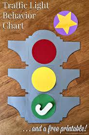 Stoplight Behavior Chart Templates Traffic Light Behavior Chart Free Printable