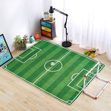 green football themed rug kids room carpet jogging training area rugs for rooms designs western cabin dining rustic