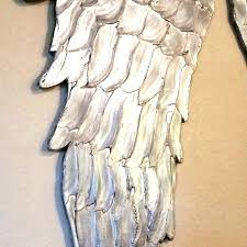 wooden angel wings large silver wall art ordinary small wood uk decor wing