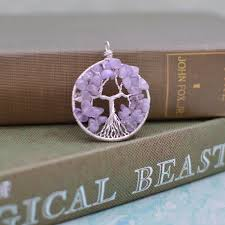 tree of life wire wrapped sterling silver pendant amethyst february birthstone jpg