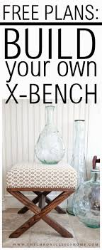 x contemporary bedroom benches: free plans build your own x bench for around