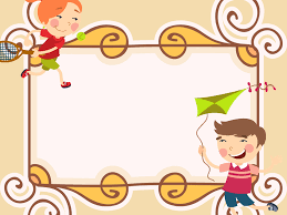 sweet cartoon frame ppt backgrounds