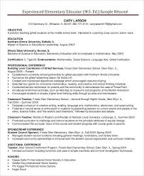 Experienced Teacher Resume Custom Teacher Resume Sample 28 Free Word PDF Documents Download Free
