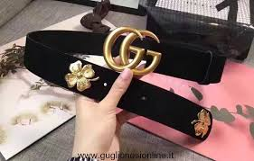 replica gucci clover belt with double g buckle 409402 black 2017 high quality