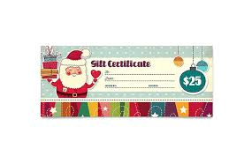 Holiday Gift Certificate Template Theme 4 Free Holiday Gift Voucher Template Certificate Templates