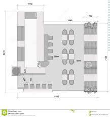 Pub Design Plan Standard Cafe Furniture Symbols On Floor Plans Stock Vector