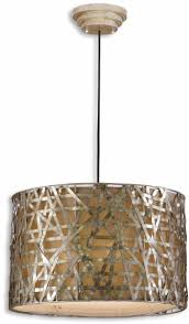 Drum Light Fixtures Pendants Details About Alita Silver Champagne Metal Drum Pendant Lighting Fixture By Uttermost 21108