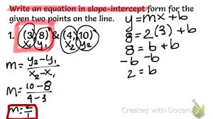 equation in slope intercept form from a table you maxresde standard form graph calculator