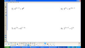 solving exponential without logarithms
