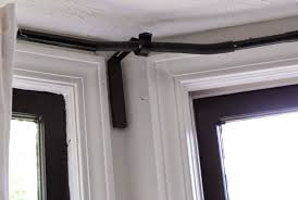 amazing bay window curtain rods ikea home design ideas pict for concept and ceiling mount inspiration