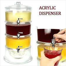 glass beverage dispenser with spigot gallon acrylic poly pro beverage dispenser with ice well drink dispenser
