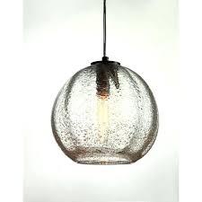 art glass lighting viz art glass vintage satin nickel round ribbed clear bubble glass pendant art