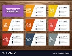 Restaurant Business Card Template Royalty Free Vector Image