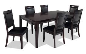 black dining room sets. Matrix 7 Piece Dining Set Black Room Sets