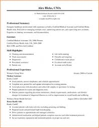 Incredible Medical Resume Template Free Ideas Assistant