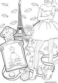 Coloriage Adulte Paris France Tour Effeil Dessin